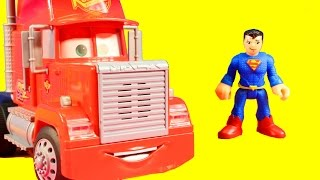 Disney Cars Mack Delivers Surprise Guardians Of The Galaxy Toys To Imaginext Superman
