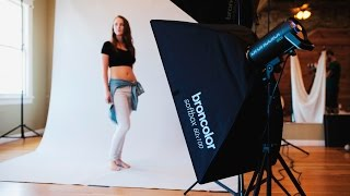 Editorial and Fashion Studio Lighting Tutorial Video: 2 Light Setup for Full - Length Portraits