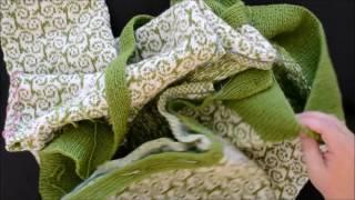 Hvordan sy på knappestolper med madrassting