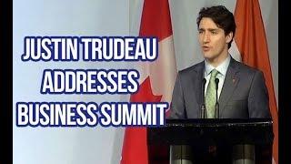 Canadian PM Justin Trudeau Addresses Business Summit In Delhi | Overseas News
