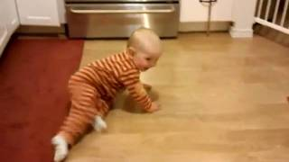 chasing mason in the kitchen 09-29-09
