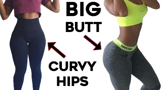❤️How To Get Curvy Hips and Bigger Butt🍑| 4 Workouts For Wider Hips and Big Booty!