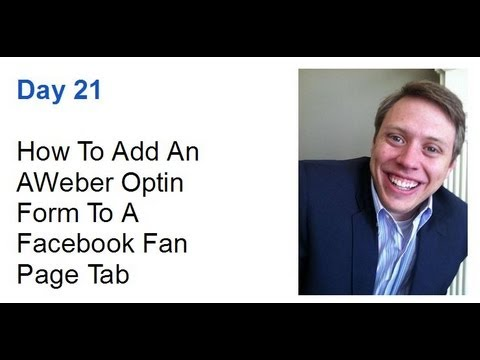 How To Add An AWeber Form To Your Facebook Fan Page Tab - Adam Morgan  (21 of 90)