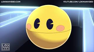 Pacman Cartoon Vs Big Monster Pacman