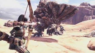 Monster Hunter World Wildspire Waste Trailer Gameplay
