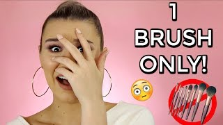 Full Face Of Makeup Using ONLY 1 Brush!! | CHALLENGE