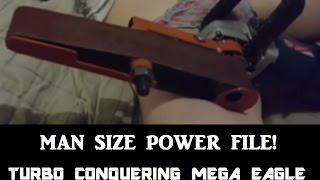 Man size power file. Angle grinder hack.