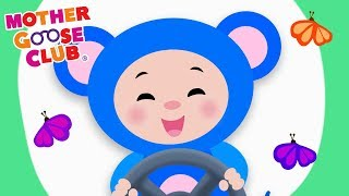 The Wheels On The Bus Go Round And Round | Learn Colors | Mother Goose Club Animated Baby Songs