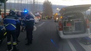 At least four children dead as train collides with school bus in France