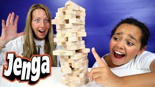 Crazy Jenga Challenge! Kids Toy Prizes   Family Fun Video