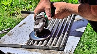 Making A Wood Burning BBQ Grill From Scrap Metal - Part 1