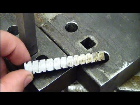Machining 101 How to drill a square hole at home without special tools.