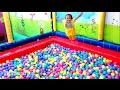 Mandi bola banyak sekali naik odong-odong mobil mainan anak - play balls pit show mini merry