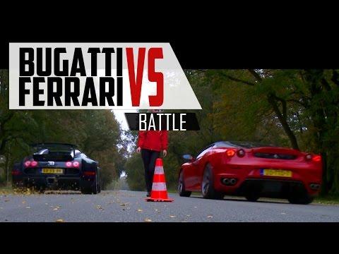 BUGATTI VEYRON vs Ferrari F430 - WHO WINS?! | SCC TV