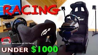 SIM Racing Rig: Racing Simulator Setup Under $1500 - Sim Racing Cockpit: Playseat Revolution G29 PS4