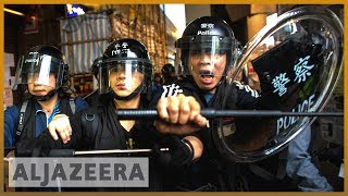 Thousands of protesters again hit Hong Kong