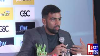 Cricketer R Ashwin Press Meet Tamil Speech