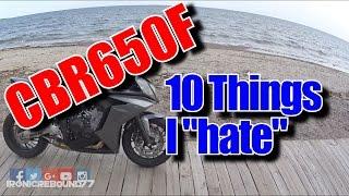 Honda CBR650F - 10 things I