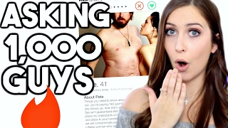 ASKING 1,000 GUYS FOR SEX (TINDER SOCIAL EXPERIMENT)