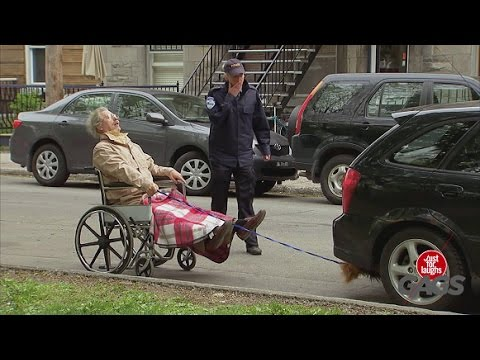 NEW Just For Laughs Gags 3-3-2017 - Grandpa's High Speed Wheelchair - Throwback Thursday