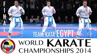 Final Male Team Kata EGYPT. 2014 World Karate Championships