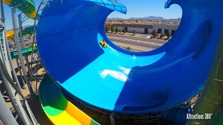 [4K] Wild Surf Water Slide - Cowabunga Bay Las Vegas