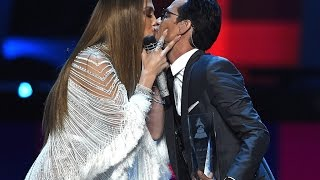 Jennifer Lopez kiss Marc Anthony Latin Grammy Awards 2016