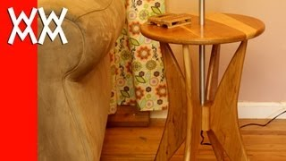 Building a cherry wood floor lamp: retro style