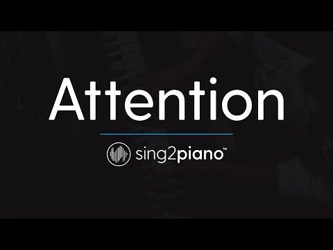 Attention [Piano Karaoke Instrumental] Charlie Puth