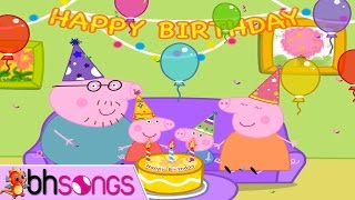 Happy Birthday Peppa Pig | Songs For Kids Funny 4K