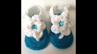 9-12 Month Flower Sandals | Video Tutorial - Step by Step Directions