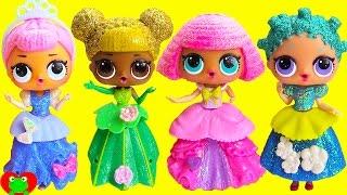 L.O.L. Dolls Play Dress Up As Disney Princesses
