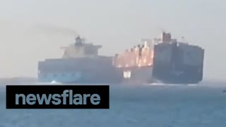 Two container ships collide on Suez Canal