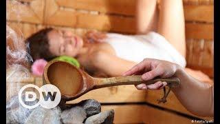 Kayaklı mobil sauna- DW Türkçe