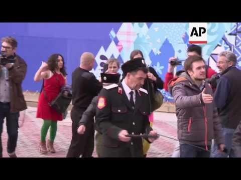 Xxx Mp4 Pussy Riot And Their Supporters Attacked By Cossack Militia CONTAINS PROFANITIES 3gp Sex