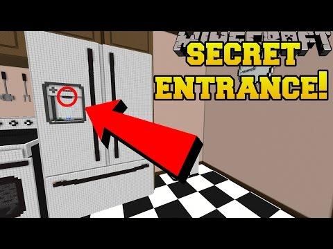 Minecraft THE SECRET FRIDGE ENTRANCE Crack The Case Custom Map 2