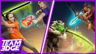 Hanzo vs. Genji Challenge! | Overwatch