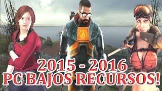 5 GRANDES JUEGOS PARA PC DE POCOS RECURSOS! 2015 - 2016