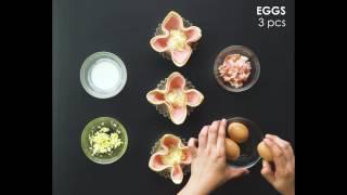 CDO Ham & Bacon Shirred Egg