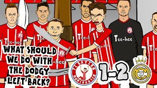 DODGY LEFT BACK! 🏆1-2! Bayern vs Real Madrid!🏆 (Parody goals highlights Champions League 2018)