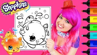 Coloring Shopkins Goldie Fish Bowl Glitter Coloring Page Prismacolor Paint Markers | KiMMi THE CLOWN