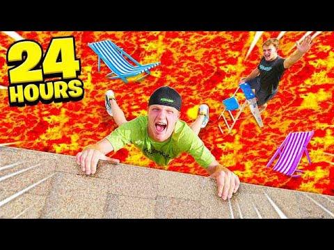 24 HOUR EXTREME FLOOR IS LAVA CHALLENGE