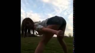 Sluty white girl dancing sexy