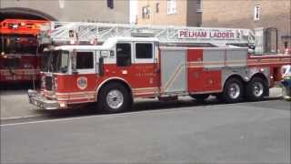 Village of Pelham Fire Department Engine 5 & Ladder 2 Responding To A Call