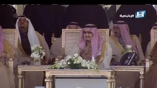 قصيدة الشاعر محمد بن فطيس المري أمام الملك وضيوفه