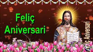0 125 Catalan Happy Birthday Greeting Wishes includes Jesus  Christ  with Bible by  Bandla