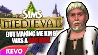 Sims Medieval but making me king was a bad idea