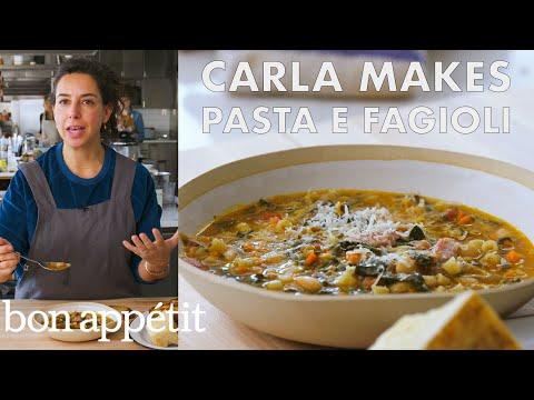 Carla Makes Pasta e Fagioli From the Test Kitchen Bon Appétit