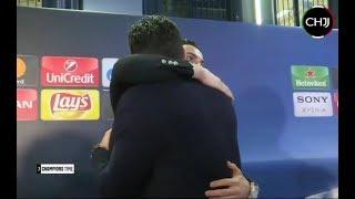 El abrazo mutuo de Cristiano Ronaldo y Buffon tras eliminacion de la Juventus