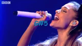Ariana Grande's Live Upper Belts Compilation ( G5 - B5)